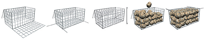 Assembling a welded gabion system